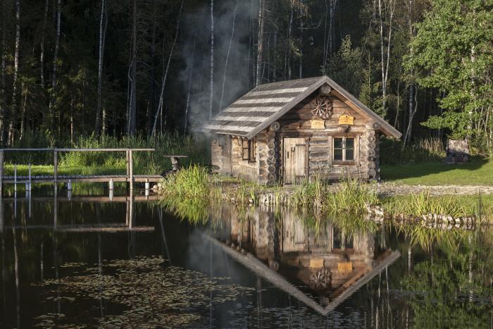 Sauna dymna Fot. Jaak Nilson, VisitEstonia.com
