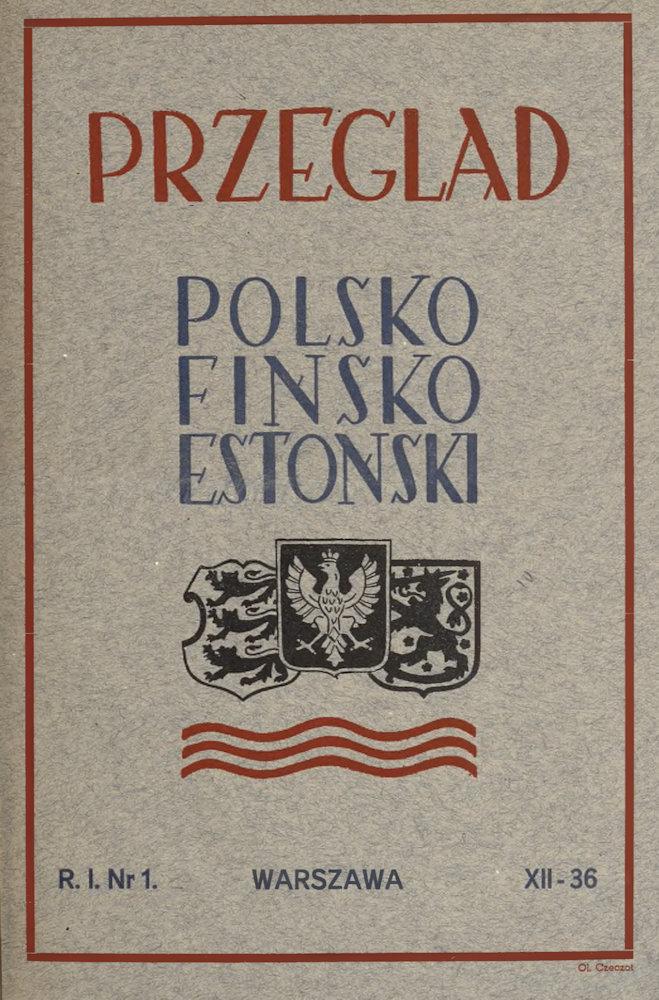 Okładka pierwszego numeru Przeglądu Polsko-Fińsko-Estońskiego